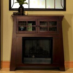 mission style fireplace mantel. love the craftsman style fireplace prairie mantles  Seven Craftsman Fireplace Mantels That