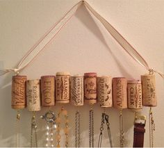 Look what you can do with your old cork wine stoppers....