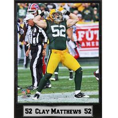 Encore Select Bay Packers Clay Matthews Stat Plaque