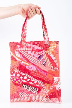 upcycled Crazy Patchwork  Tote Shoulder Bag  by TIMOHANDMADE, $55.00