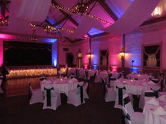 Ashley And Mike Chose Uplighting In White For Their Ceremony Reception At Lake Shore Country Club Erie PA
