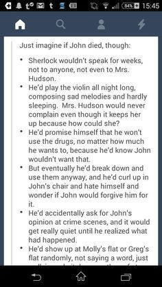 "When John thought Sherlock was dead it was horrible. But John was the ""normal"" one, he could get on. Imagine guys, if Sherlock had lost John.<< fuck im crying now Sherlock Holmes Bbc, Sherlock Fandom, Sherlock Quotes, Sherlock John, Sherlock Poster, Funny Sherlock, Sherlock Moriarty, Sherlock Season, Benedict And Martin"