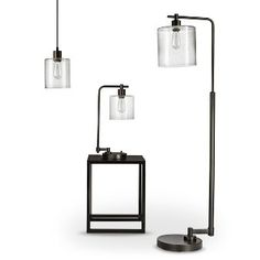 Threshold™ Seeded Glass Industrial Lighting Collection (Includes Edison Bulb)