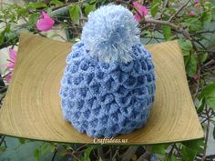 crochet popcorn stitch hat pattern | Crochet hat for kids: crochet crocodile hat - Craft Ideas - Crafts for ...