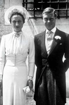 Marriage of Prince Edward and the American Wallis Simpson, June 3, 1937.
