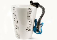 Amazon.com - Blue Guitar Handmade Coffee Mug (10cm x 8cm) -