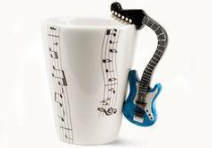 Amazon.com - Blue Guitar Handmade Coffee Mug (10cm x 8cm) -