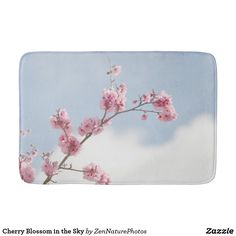 Cherry Blossom in the Sky Bathroom Mat