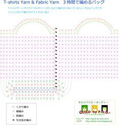 編み物初心者さんでも編みやすいように、できるだけシンプルにしました。 詳しくはブログに載せています。 http://keito-zuki.blogspot.jp/2016/06/t-shirtsyarnbag.html