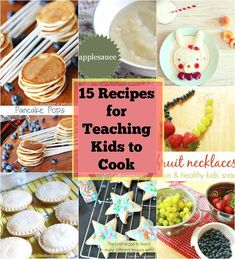 Over 15 FUN Easy recipes for teaching kids to cook! These recipes are perfect for getting your students / kids to LOVE cooking! Kids Cooking Recipes, Cooking Classes For Kids, Fun Easy Recipes, Cooking With Kids, Easy Cooking, Low Carb Recipes, Cooking Games, Cooking Oil, Cooking Rings