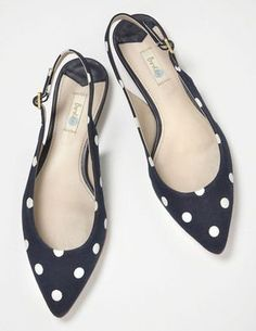 Discover Boden's wide range of high-quality footwear, from luxurious leather boots and flats to party shoes for every occasion. Pretty Shoes, Beautiful Shoes, Cute Shoes, Me Too Shoes, Polka Dot Flats, Polka Dots, Navy Flats, Shoe Boots, Shoes Sandals