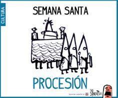 Procesión de semana Santa. Fiestas de España, tradición y cultura españolas ( haz clic para ver el video)