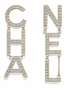 Have you checked the new earrings from Chanel's Spring Summer 2019 Collection yet? We fell in love with this one: Chanel Letter Earrings Style code: Letter Earrings, Ear Earrings, Crystal Earrings, Dangle Earrings, Pendant Necklace, Chanel Jewelry, Luxury Jewelry, Chanel Brand, Coco Chanel