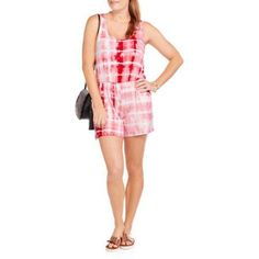 Glamour & Co Women's Bow Tie Romper, Size: Medium, Orange