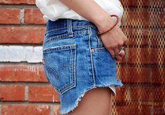 Cortar shorts vaqueros