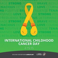 We are all together in the fight against #cancer. #InternationalChildhoodCancerDay #Laureate