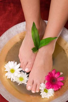 This traditional Indian foot bath is prepared with 1 cup lemon juice, a dash of cinnamon, 2 Tablespoons olive oil, ¼ cup milk, and warm water. Prepare the warm water for your foot bath, add the ingredients, and mix. This soak will provide you with a little extra power in clearing off dry and dead skin with the lemon juice and extra smoothness with the milk and olive oil.