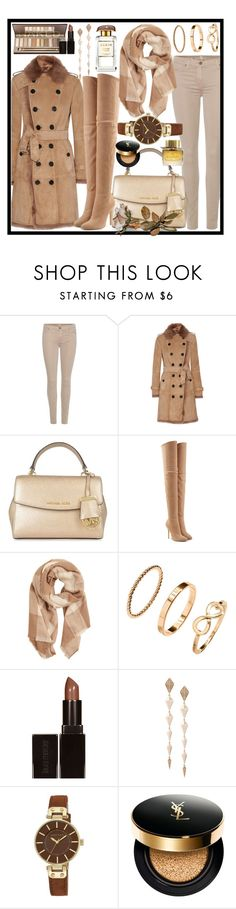 """""""Untitled #131"""" by andrijanatirnanic ❤ liked on Polyvore featuring 7 For All Mankind, Burberry, MICHAEL Michael Kors, Balmain, MANGO, H&M, Laura Mercier, Anapsara, Anne Klein and Yves Saint Laurent"""