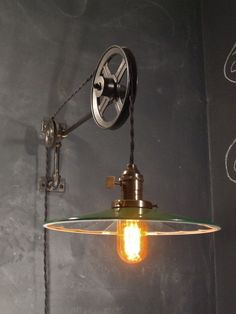 We love this Vintage Industrial Pulley Sconce Mirrored Shade by DWVintage | DunnDIY.com | #inspiration #DunnDIY #DIY (scheduled via http://www.tailwindapp.com?utm_source=pinterest&utm_medium=twpin&utm_content=post1396029&utm_campaign=scheduler_attribution)