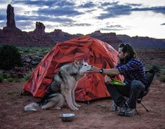 """""""The difference between friends and pets is that friends we allow into our company, pets we allow into our solitude."""" ~Robert Brault We released a video with @rei and @matadornetwork! Click the link in our bio to check it out. Photo cred:@thejonjenkins #LetsCamp #OptOutside #sponsored #camping #outdoors #Utah"""