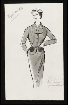 Fashion drawing | Fromenti, Marcel | Digby Morton V&A Search the Collections