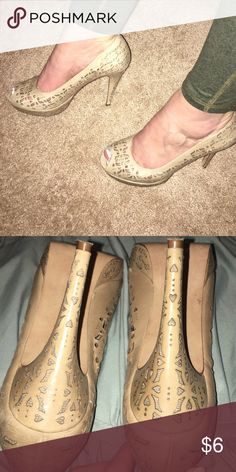 Nude Heels Very comfortable and will go with anything...worn some bronx Shoes Heels