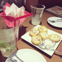 [2014/09/29]    月曜日から飲むそーっす(≖ლ≖๑ )    Mojito&Potato Skin      @ The Cantina