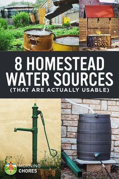 Do you need an off-grid water system that doesn't need electricity or doesn't depend on city water? Well, here are your 8 water source options.