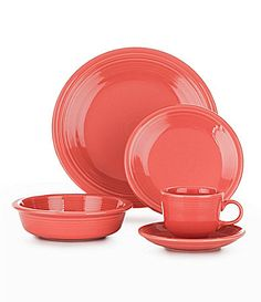 Fiesta Flamingo Dinnerware #Dillards  Holy Moly! Where was I when this color came out?