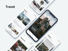 Travel designed by Dmitrii Hyriavenko. Connect with them on Dribbble; Ui Design Mobile, Ios App Design, Web Ui Design, Interface Design, User Interface, Android App, Card Ui, Application Design, Mobile Application