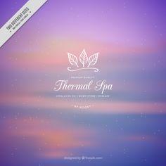 Purple spa background Free Vector