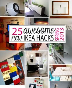DIY | 25 new + awesome IKEA Hacks/DIYs - Spring 2013