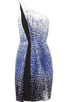 Diane von Furstenberg Tahlia one-shoulder printed silk dress   THE OUTNET $200