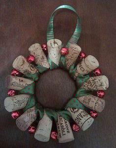 another cork wreath