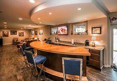 Beautiful Basement Bar Design - Visit to see more designs.