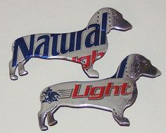 DACHSHUND DOG Magnet SET  Natural Light Beer Can by SodaCanBuddies, $5.50