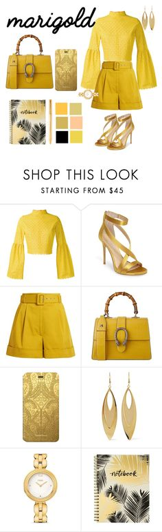 """""""Bling bling✨"""" by fairypuff ❤ liked on Polyvore featuring Daizy Shely, Imagine by Vince Camuto, Isa Arfen, Gucci, Christian Lacroix, Kenneth Jay Lane, Fendi, Studio Oh!, Louis Vuitton and marigold"""
