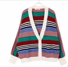 V Neck Bat-wing Sleeve Ladies Korean Style Knitting Cardigans One Size Baggy Sweater Outfits, Baggy Sweaters, Sweaters For Women, Cardigans, Bat Wings, Knit Cardigan, Polyvore Fashion, Korean Fashion, Korean Style