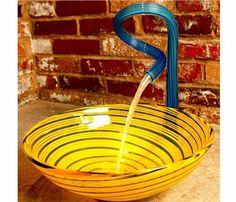 Yellow Spirals ,Price: $995.00, From www.glasssinksonline.com glass spiral faucet