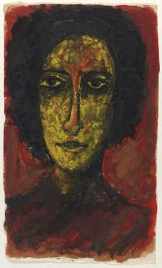 Rabindranath Tagore : Untitled (Head of a Woman)