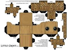 Groot by Tyumenb on DeviantArt Baby Groot, 3d Paper, Paper Toys, Foam Crafts, Diy And Crafts, Theme Animation, Disney Paper Dolls, Origami Templates, Box Templates