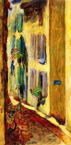 Street with Green Violets-Pierre Bonnard - circa 1935 http://bofransson.tumblr.com/post/31790883107/street-with-green-violets-pierre-bonnard-circa