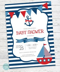 New baby shower invites nautical anchors 45 Ideas