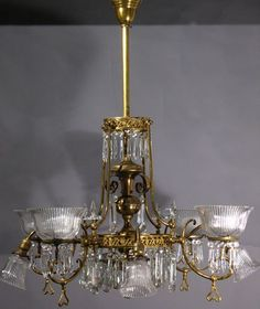 Circa 1895 44 gas and electric chandelier cast arms throughout circa 1895 this 2 light gas chandelier has deep acid etched gas shades and mozeypictures Image collections