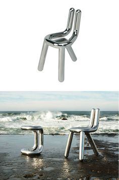 Stainless #steel #chair LINE by Riluc | #design Toni Grilo