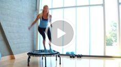 Fat-Blasting Rebounding-Routine - Famous Last Words Mini Trampoline Workout, Rebounder Trampoline, Rebounder Workout, Fitness Trampoline, Trampolines, Po Trainer, Pilates, Fitness Tips, Fitness Motivation