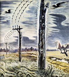 Burchfield - Song of the Telegraph, ca. 1917-52