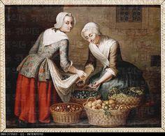 "1725 - 1765. 'Vier Jahreszeiten - Herbst' (four seasons - autumn"" by Johann Christian Fiedler (1697 - 1765). State Museum of Hesse, Darmstadt, Germany"