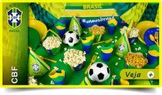 Artigos Festa Brasil. Decoração Brasil Copa do Mundo | FestaBox
