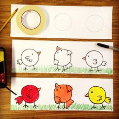 Color lesson plans for kindergarten. Works for preK too. Trace a roll of masking tape to get started. # kindergarten art lesson plans Color Lesson for Kindergarten · Art Projects for Kids Spring Art Projects, School Art Projects, Projects For Kids, Kids Crafts, Art Projects For Kindergarteners, Kindergarten Art Lessons, Art Lessons Elementary, Elementary Education, Drawing For Kids